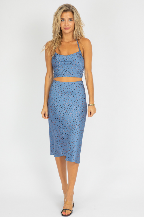 BLUE PRINT TIE TOP SET