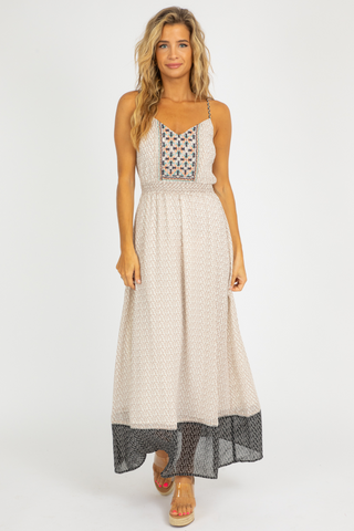 GREEN DOTTED SATIN MIDI