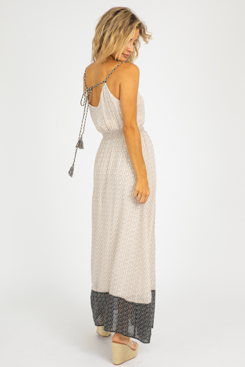 EMBROIDERED BRAID STRAP MAXI