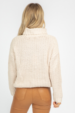 BUTTER CABLEKNIT TURTLENECK SWEATER