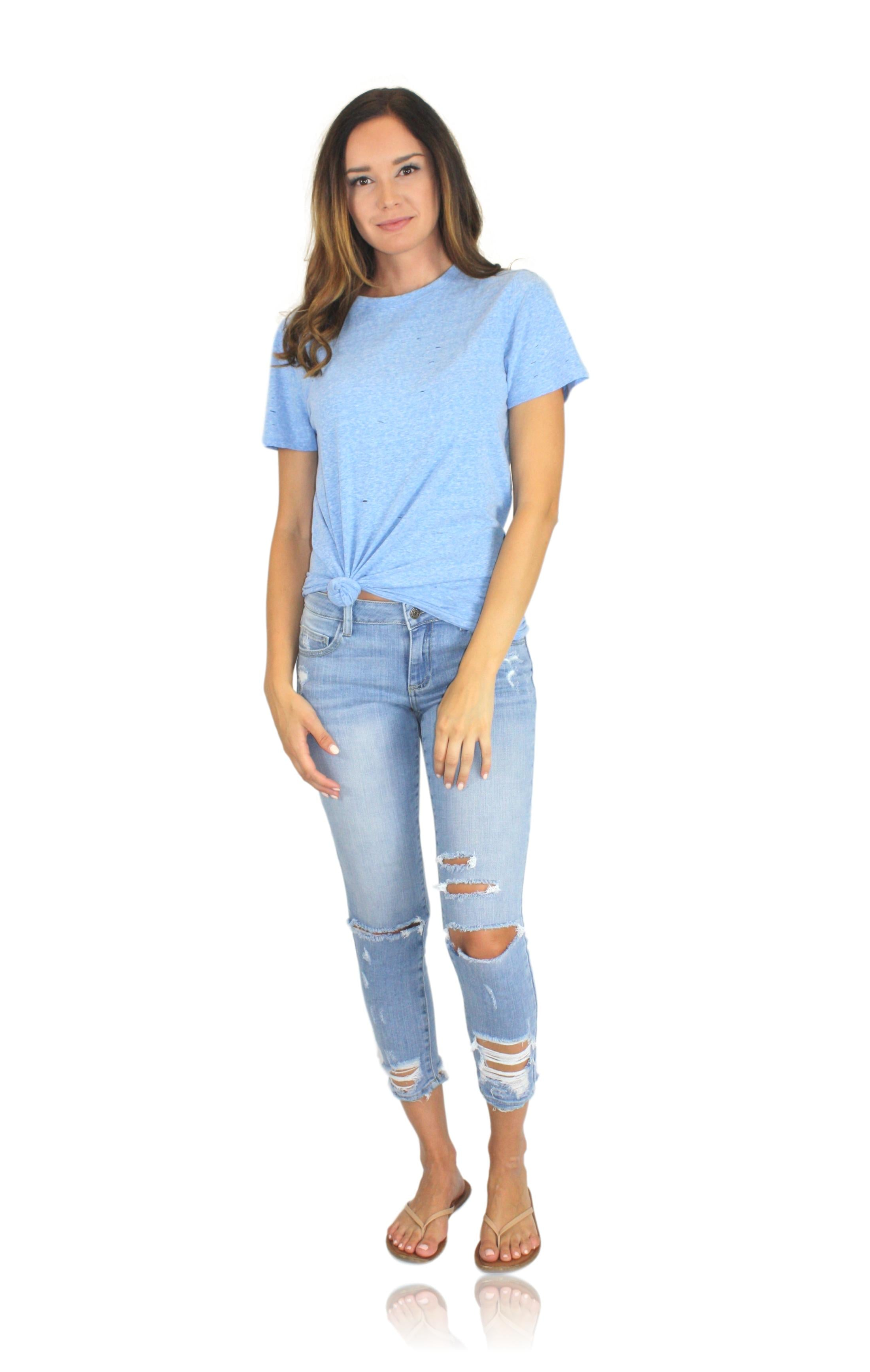 CUT IT TEE IN BLUE