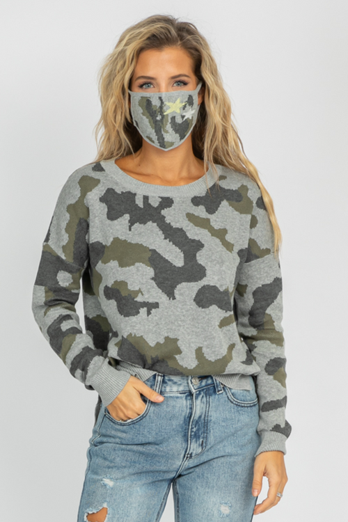 STAR ELBOW CAMO KNIT + MASK