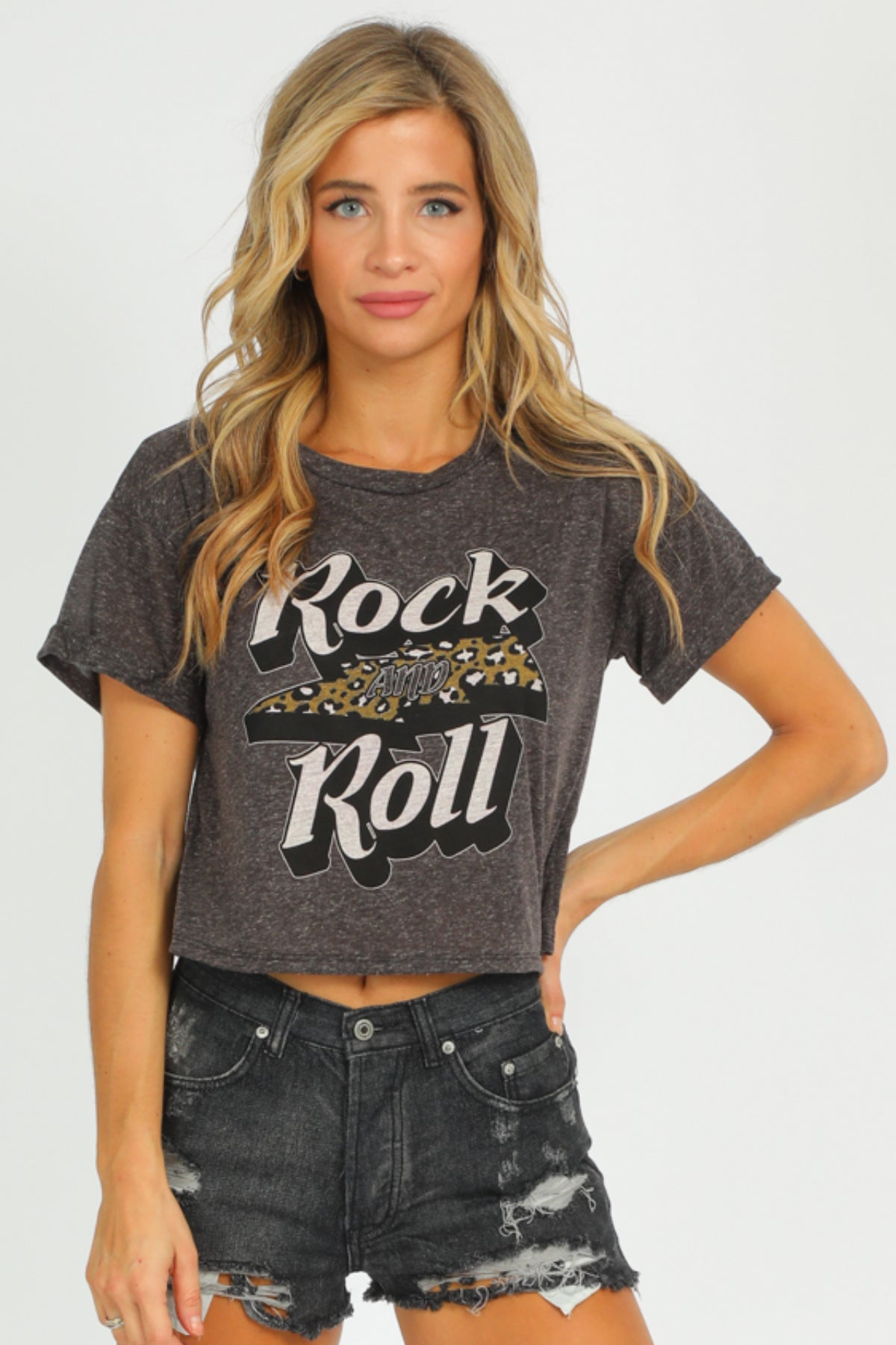 CHARCOAL ROCK N ROLL CROP