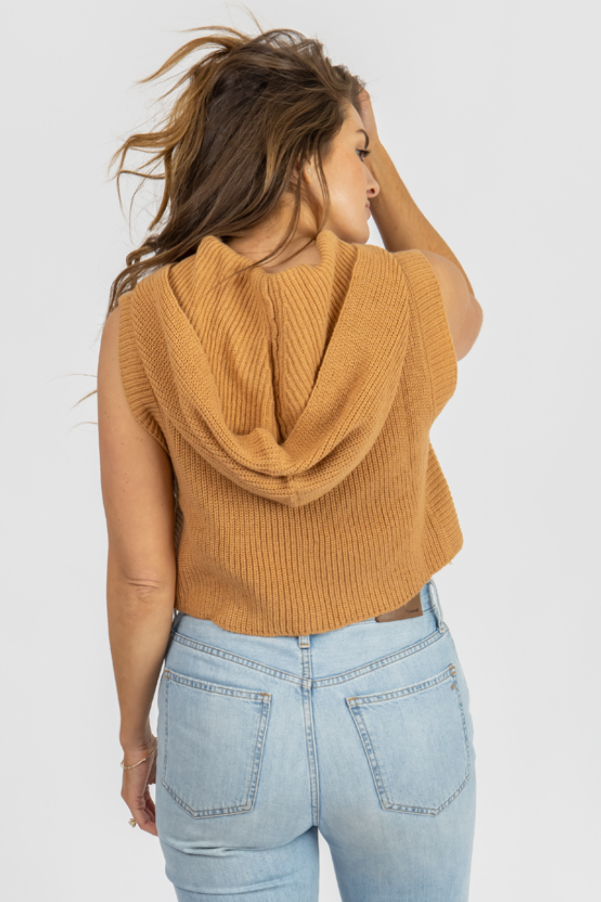 CLAY HOODED SWEATER TANK
