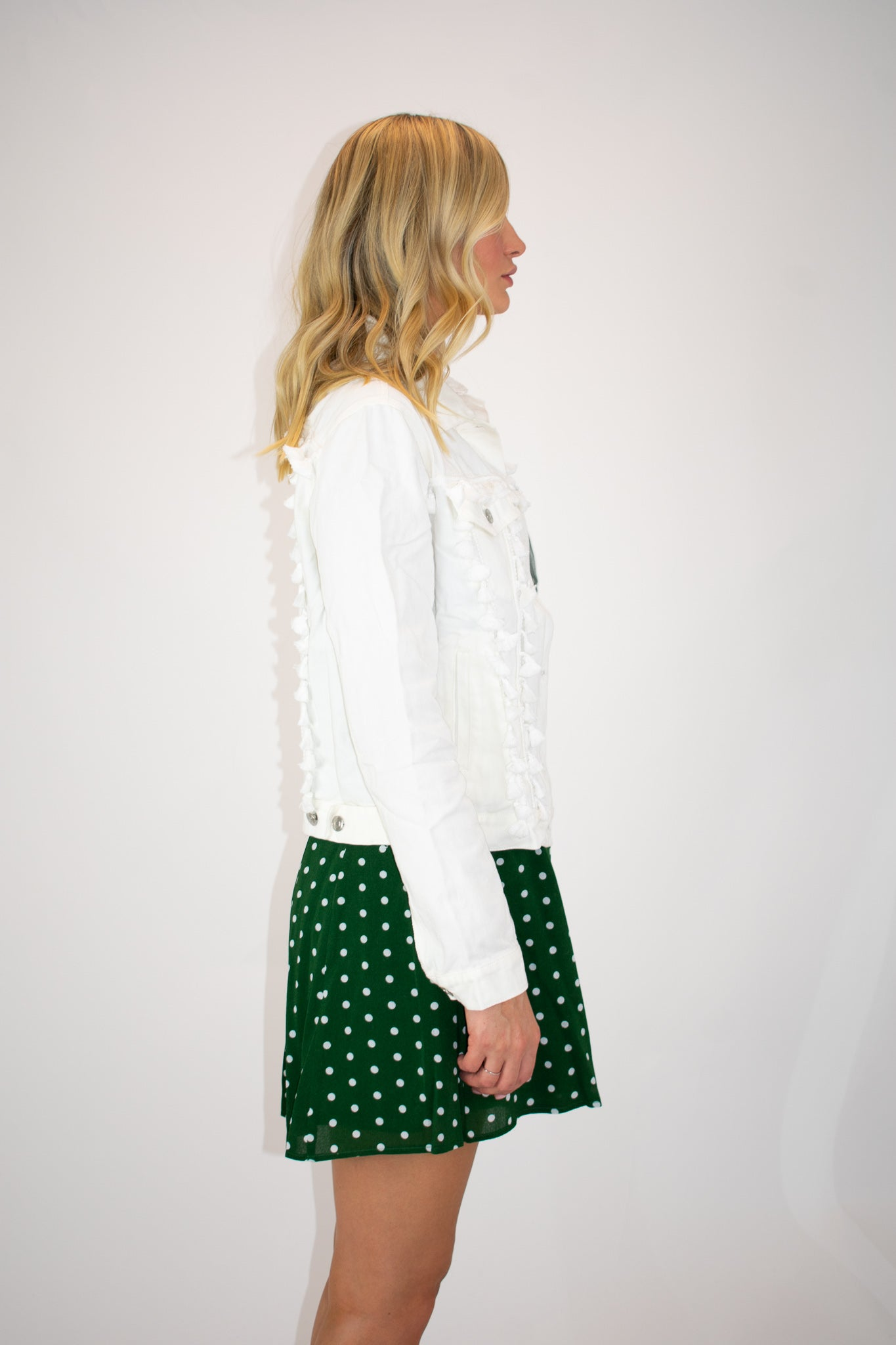 WHITE TASSLE JACKET / FINAL CLEARANCE