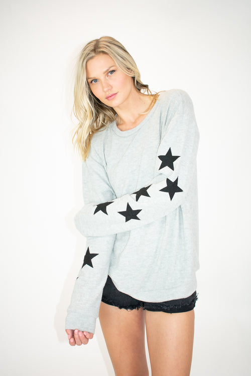 OUR SOFTEST STAR PULLOVER IN GREY