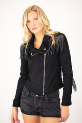 BLACK STUD TASSLE JACKET