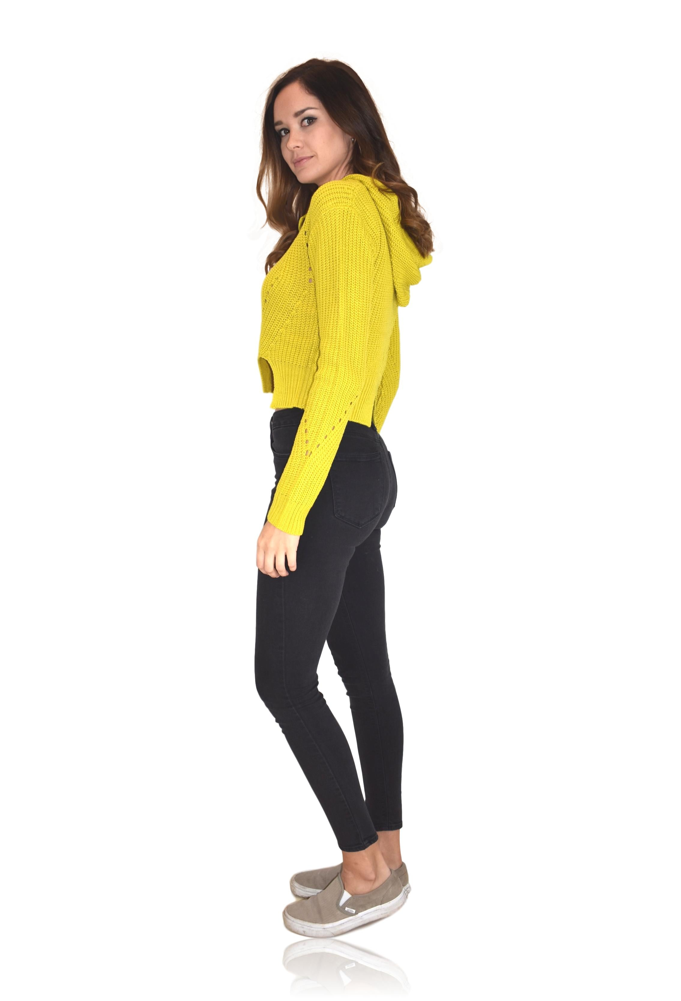 MOLLY SWEATER IN LIME / FINAL CLEARANCE