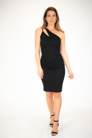 TWIST MINI DRESS IN BLACK