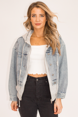 WASHED JEAN HOODED JACKET