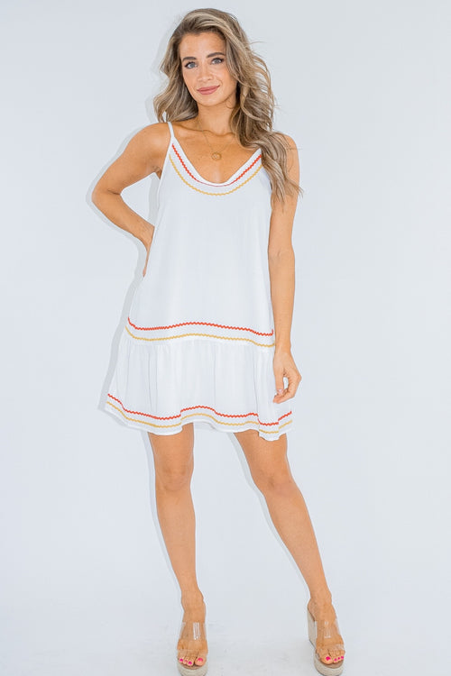 TRIM DETAIL CAMI DRESS