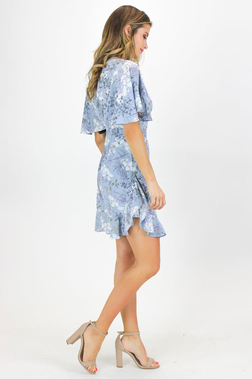 b6477c3dc BABY BLUE FLORAL TUNIC DRESS