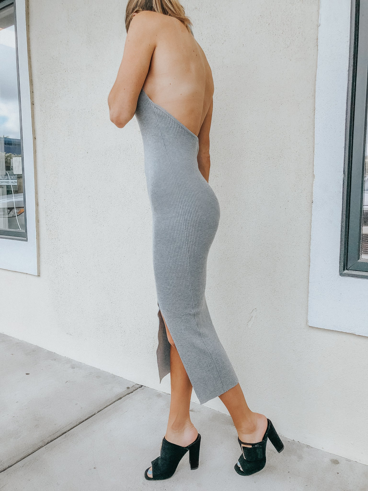 COZY CITY MIDI IN GREY