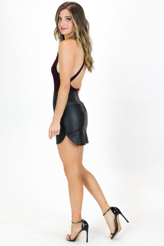 STRAPLESS RUFFLED BLACK MINI DRESS / FINAL CLEARANCE
