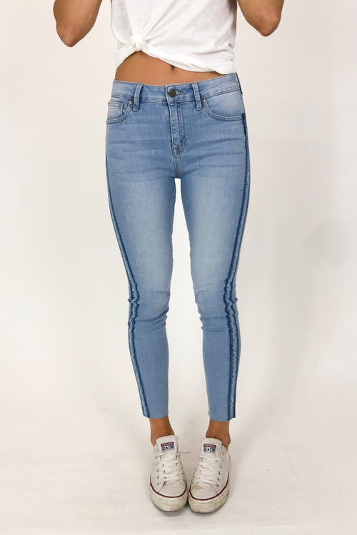 SHADOW STRIPE SKINNY JEAN
