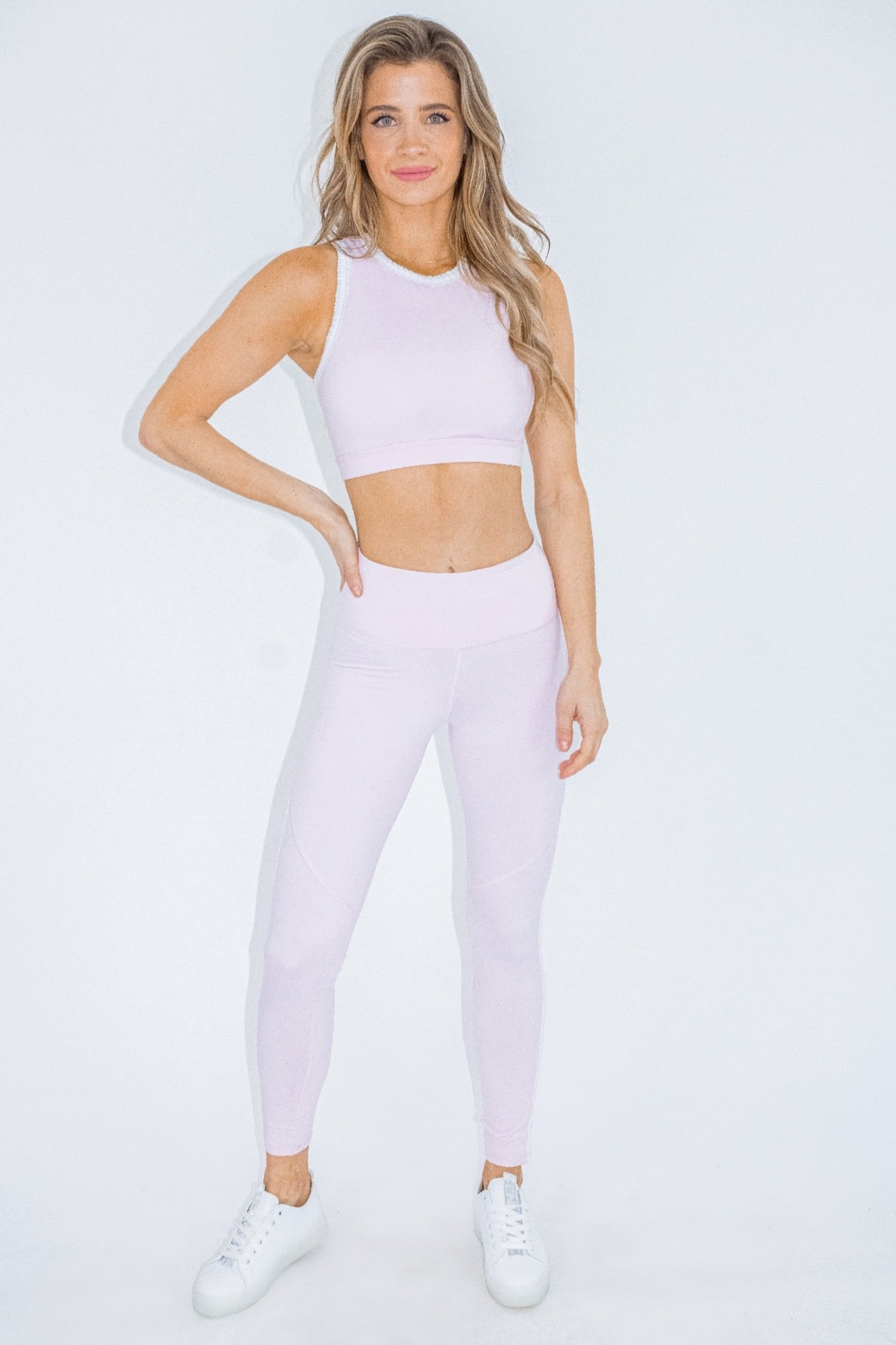 BABY PINK HIGH WAISTED LEGGINGS
