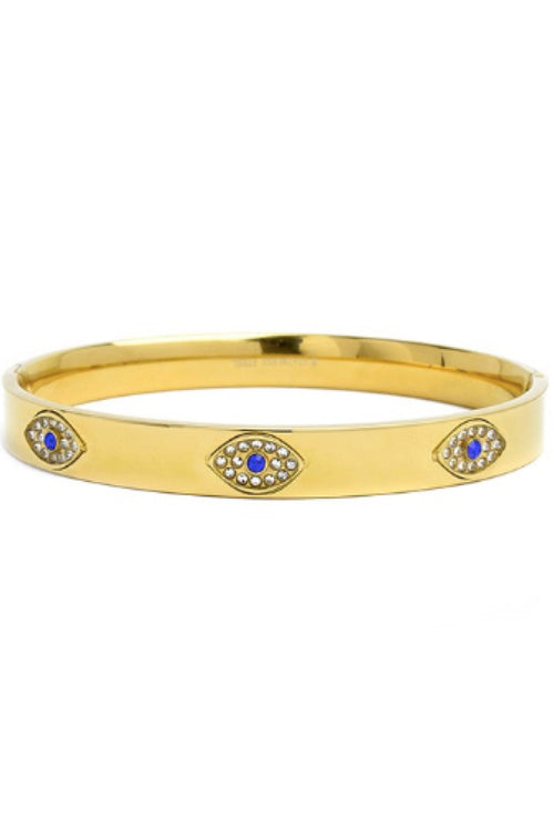 EVIL EYE GOLD BANGLE