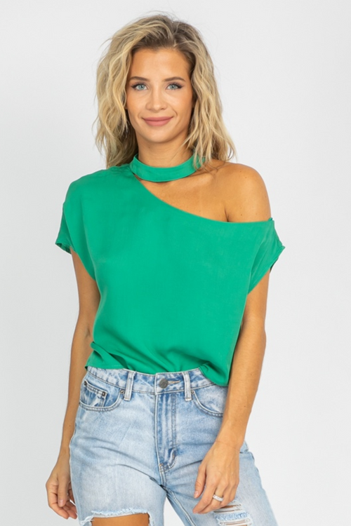 EMERALD CHOKER RELAXED TOP