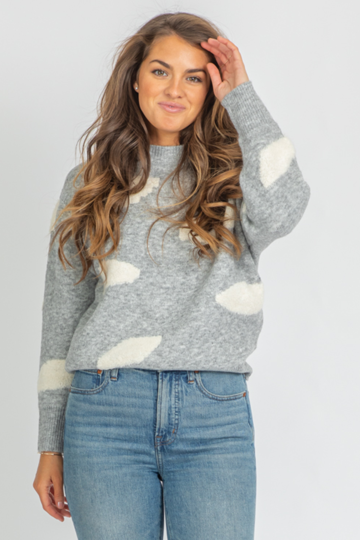 GREY CLOUD CREWNECK KNIT