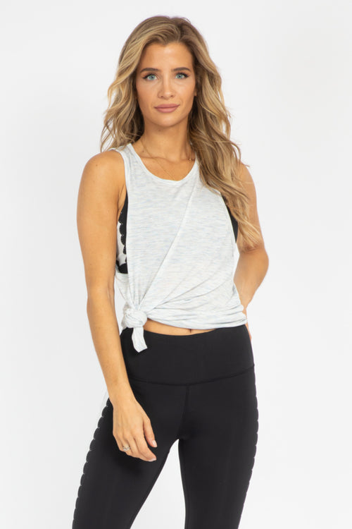 GREY CUTOUT BACK TANK