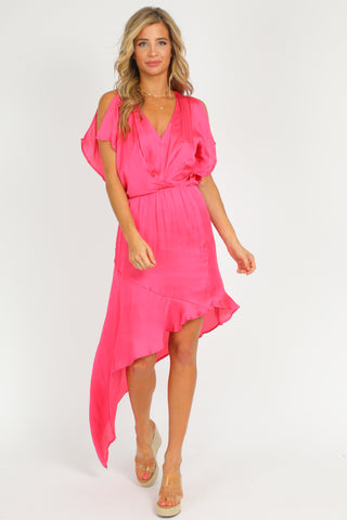 ROSE RUCHED MINI DRESS