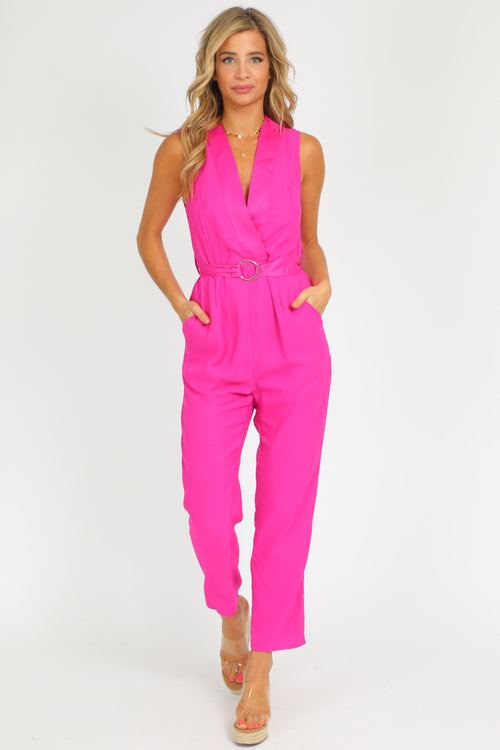 MAGENTA TAILORED JUMPSUIT