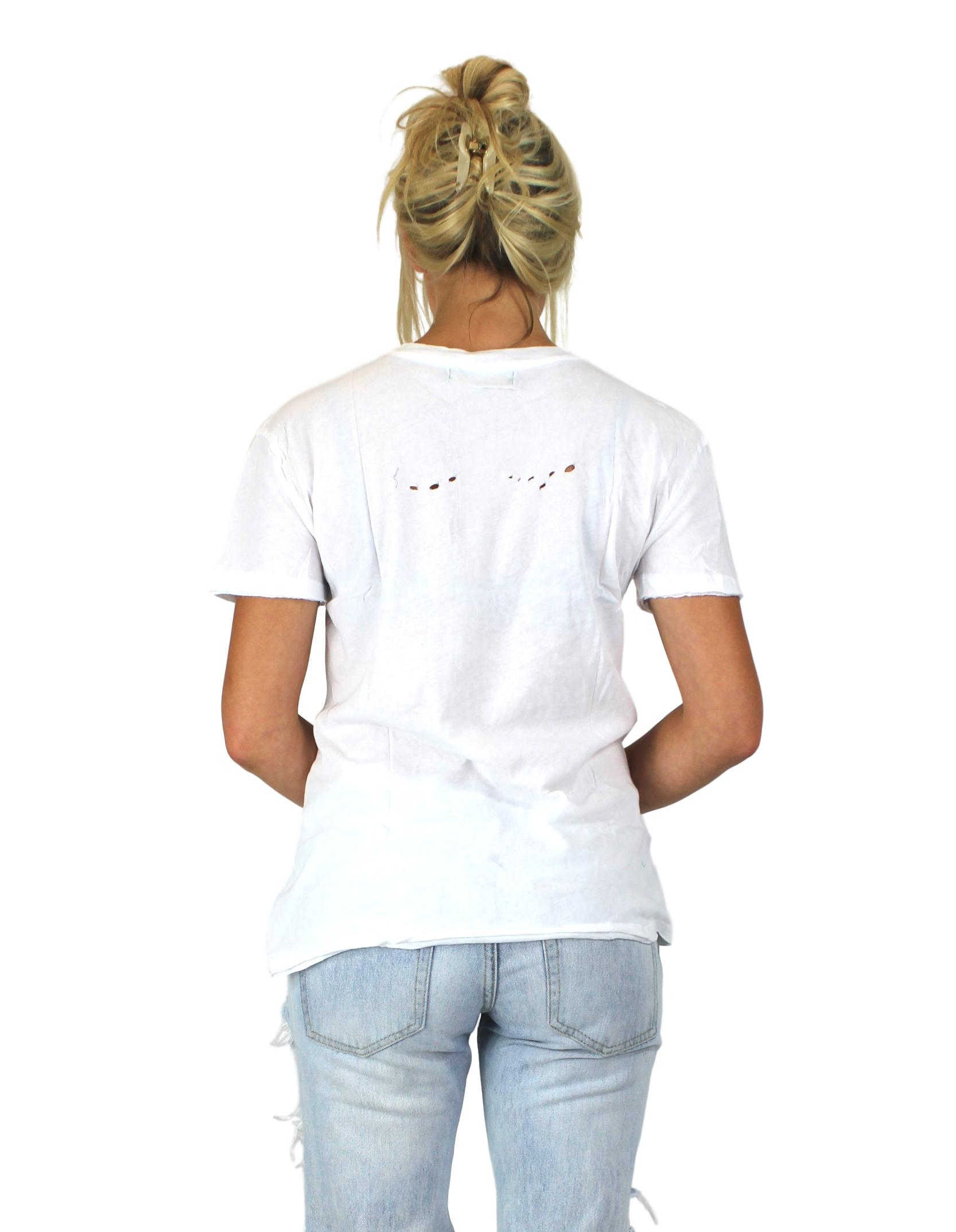 HOLE SOME TEE IN WHITE