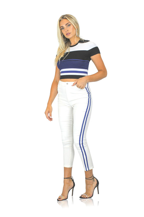 ROYAL STRIPE DENIM