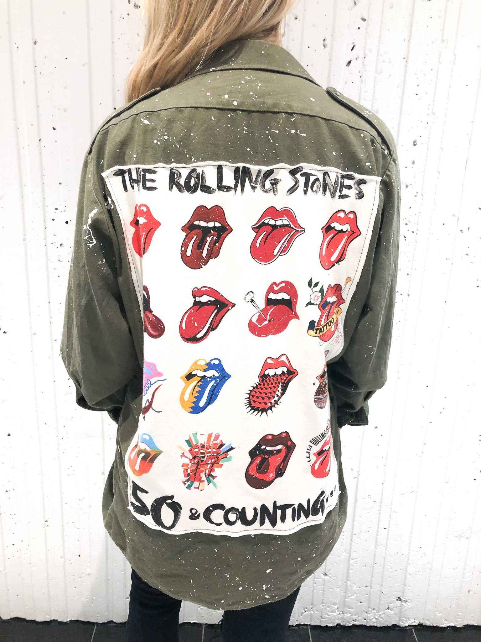 ROLLING STONES MILITARY SHIRT JACKET