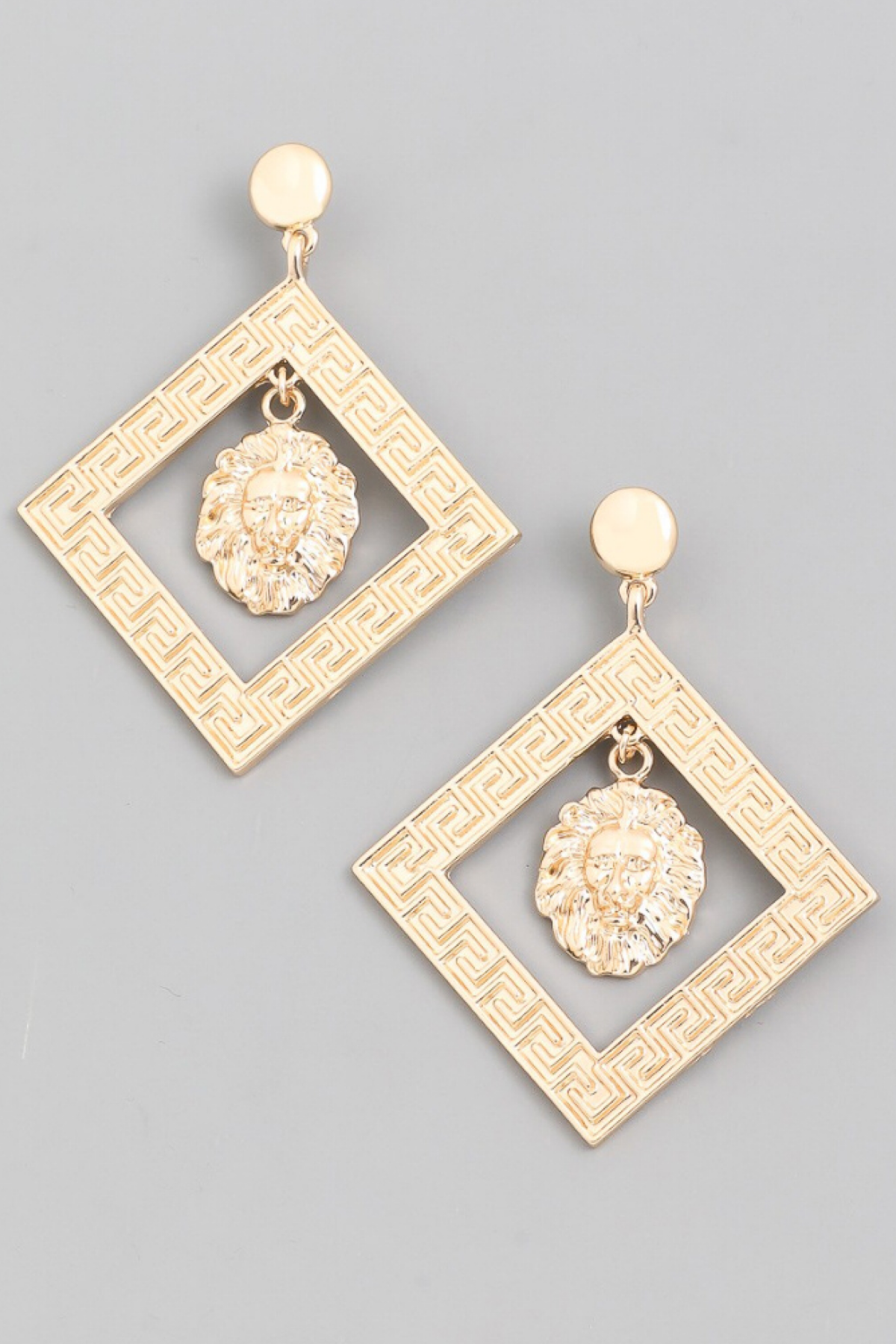 GOLD LION STATEMENT EARRING
