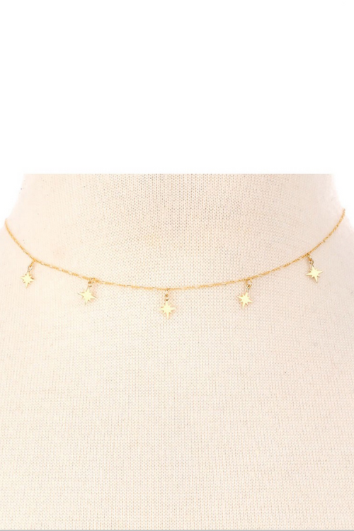 GOLDEN NORTH STAR NECKLACE