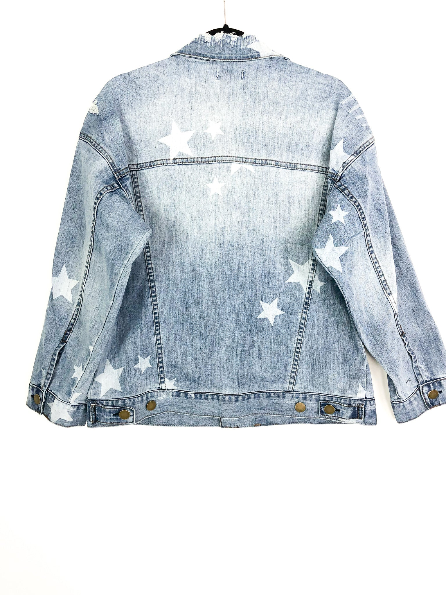 STAR WASHED DENIM JACKET