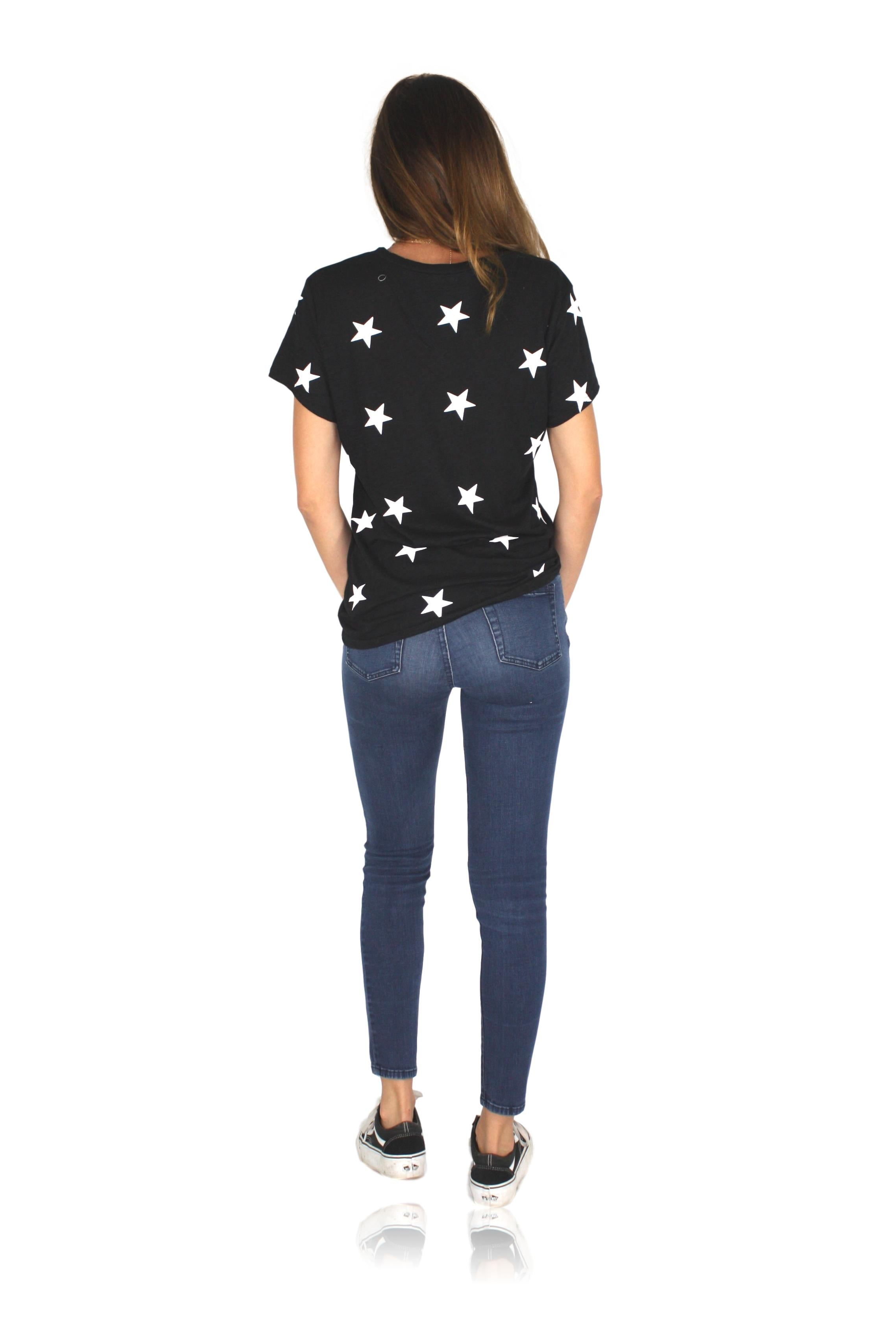 STARGAZER TEE IN BLACK