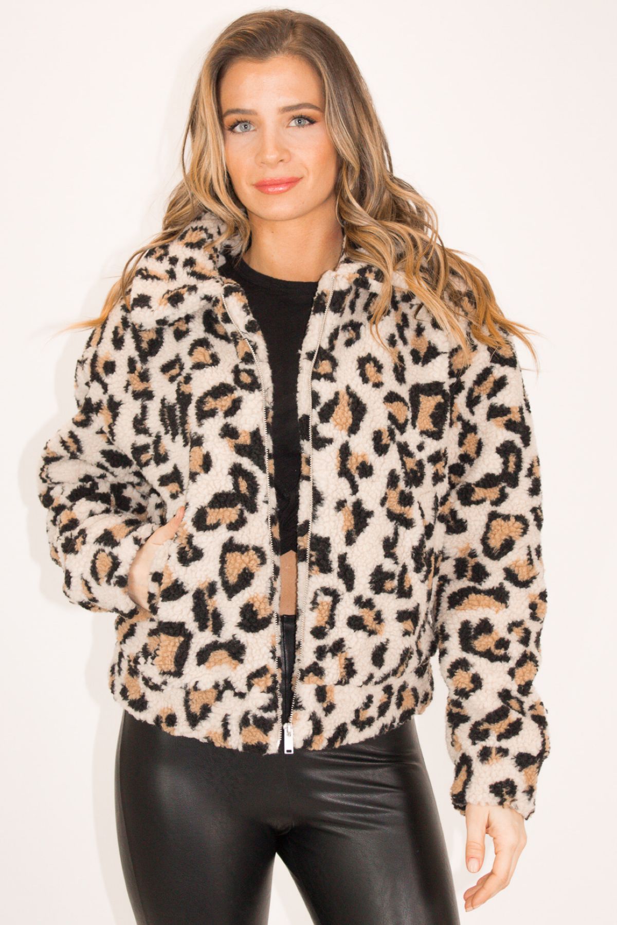 LEOPARD TEDDY JACKET