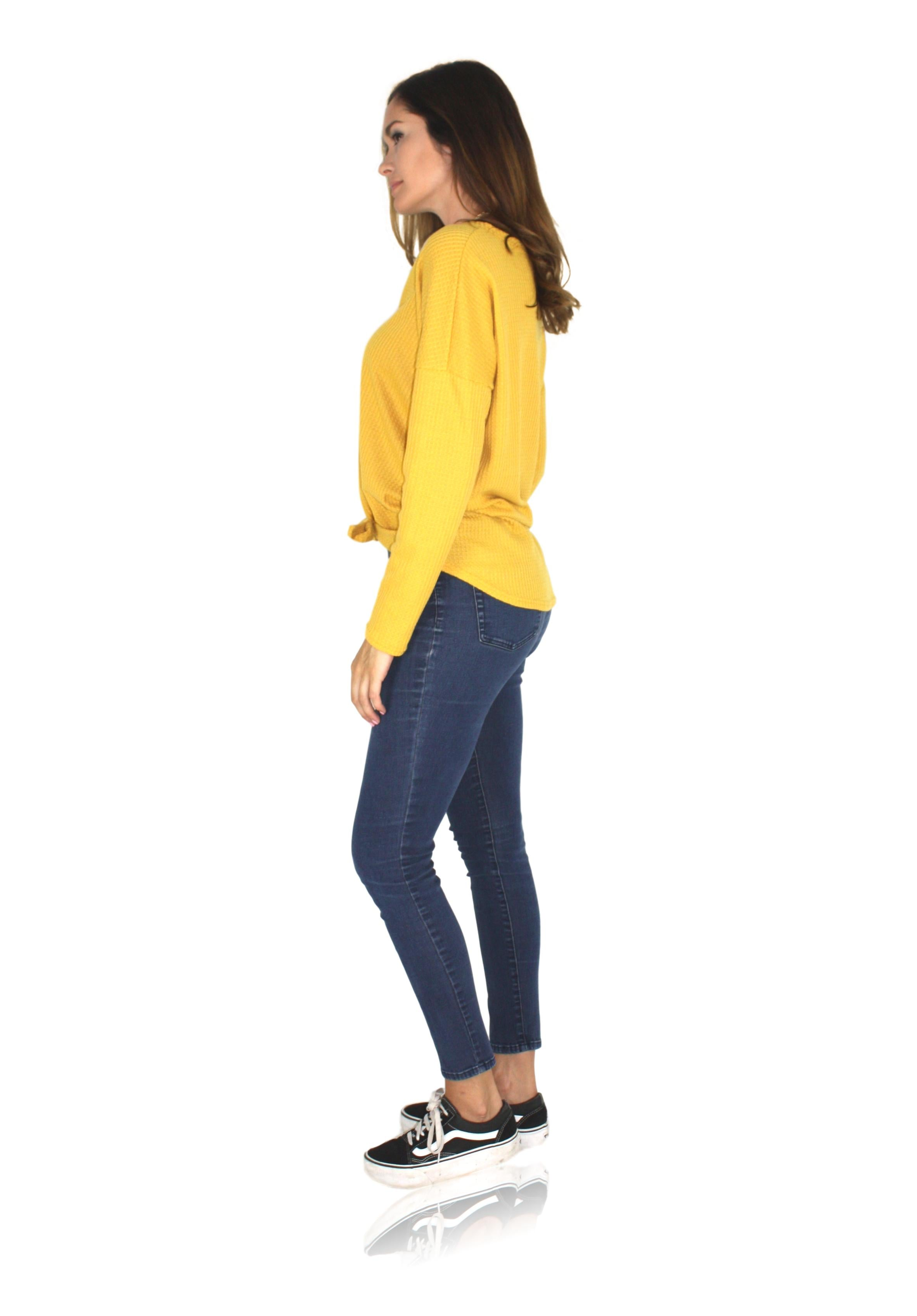 COZY UP SWEATER IN MUSTARD