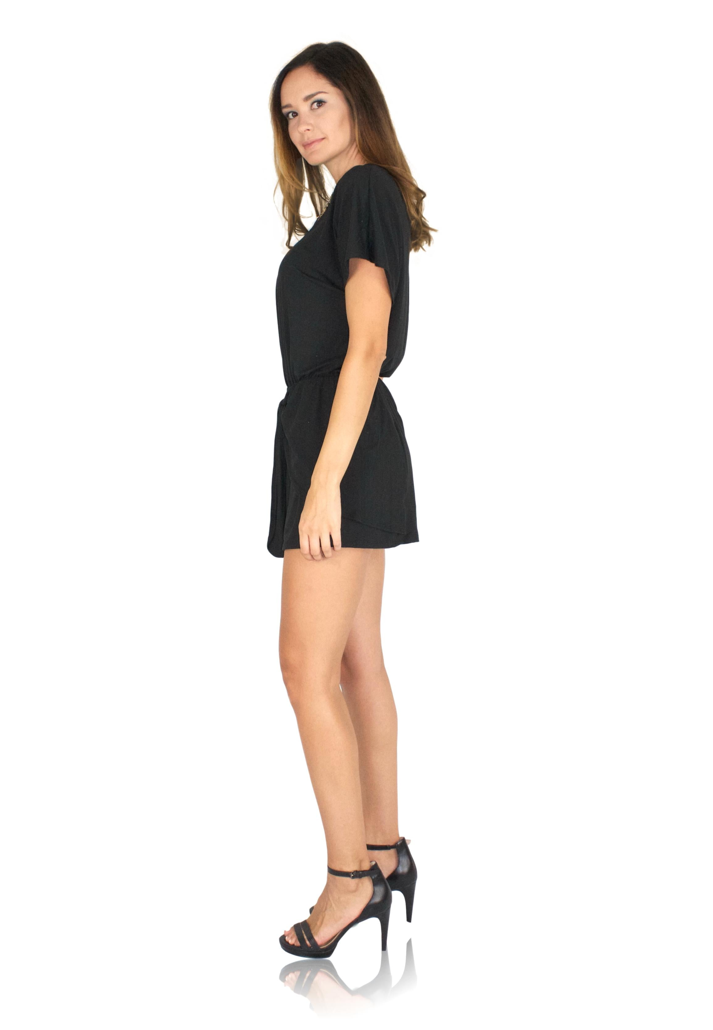 DRIFTER ROMPER IN BLACK / FINAL CLEARANCE