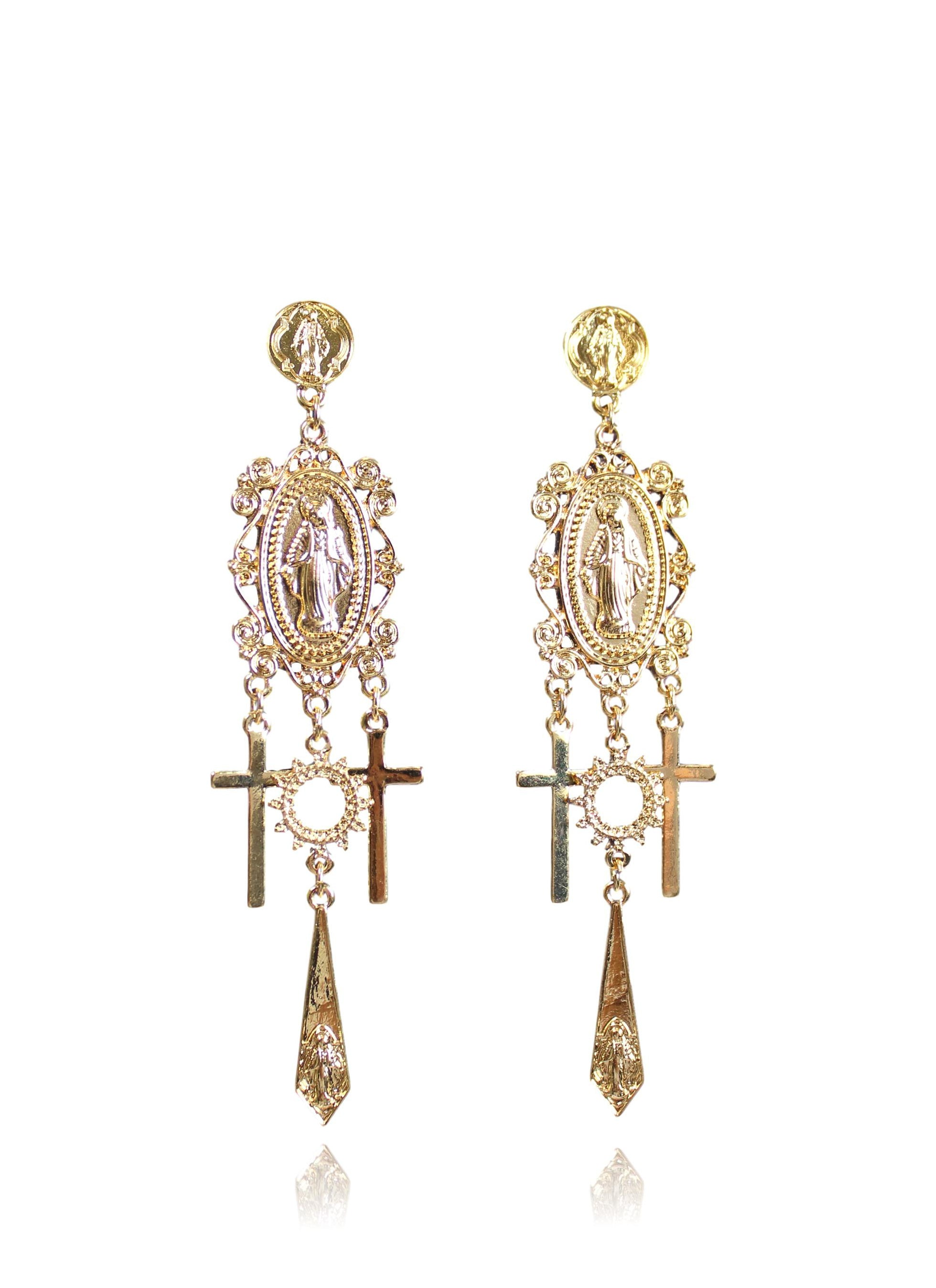 HAIL MARY EARRING IN GOLD