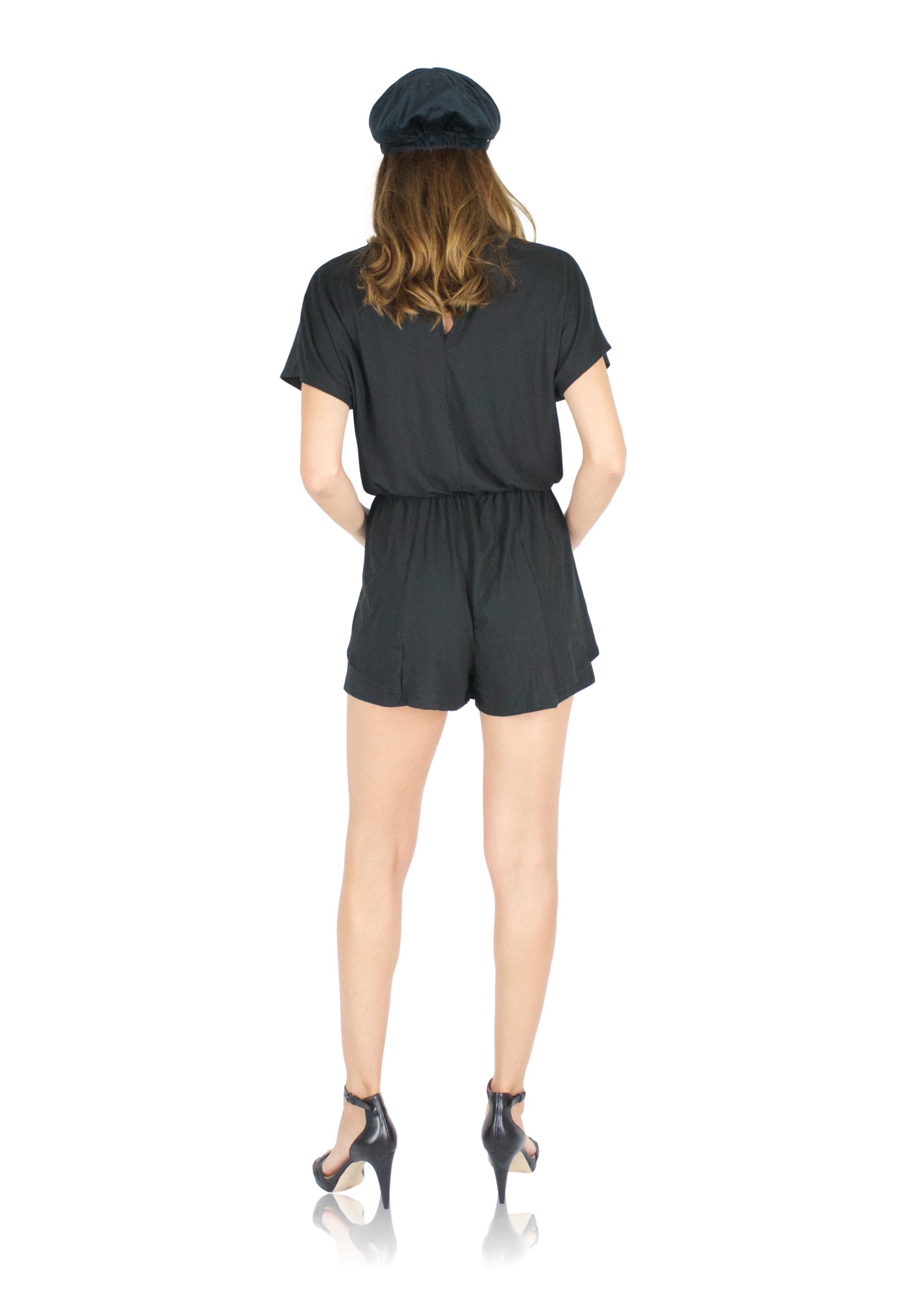 DRIFTER ROMPER IN BLACK