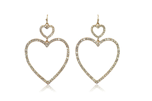 BREAK MY HEART EARRING IN GOLD