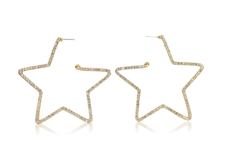 SHOOTING STAR EARRINGS IN GOLD