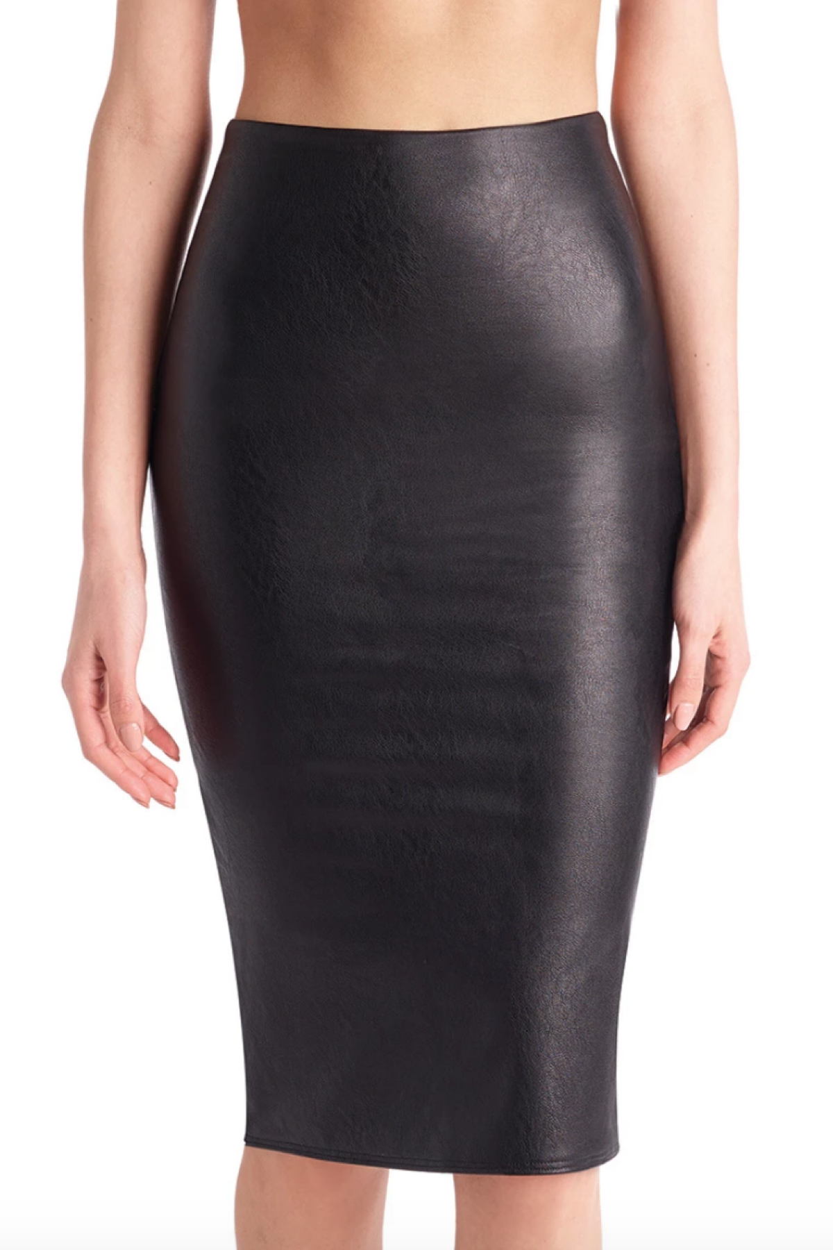 COMMANDO FAUX LEATHER MIDI SKIRT