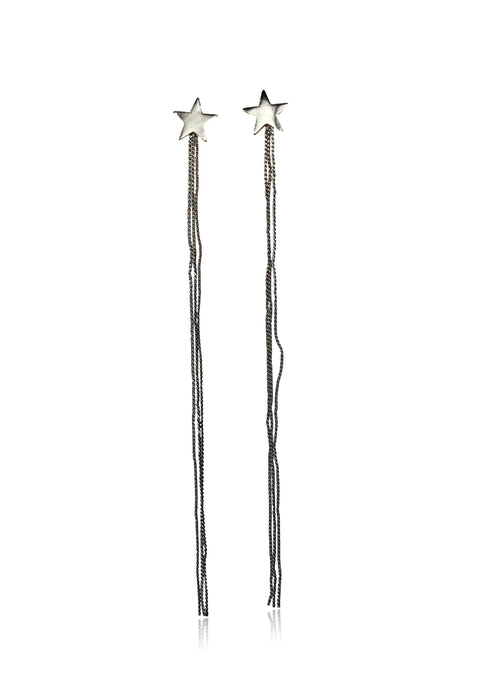 SHOOTING STAR EARRINGS IN SILVER