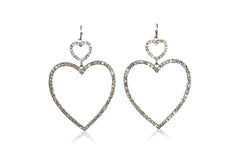 BREAK MY HEART EARRING IN SILVER