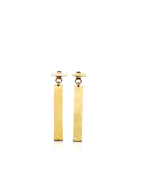 TRIBAL T EARRING IN GOLD