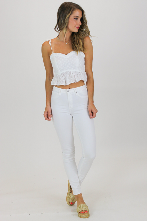 FRILLED DETAIL SWEETHEART CROP