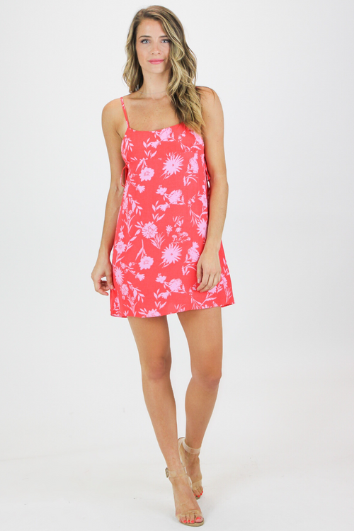 FLORAL SIDE TIE MUMU DRESS