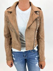 WESTERN FRINGE + STUDDED JACKET IN BROWN / FINAL CLEARANCE