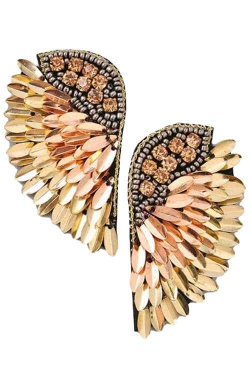 MULTI GOLD STATEMENT EARRINGS