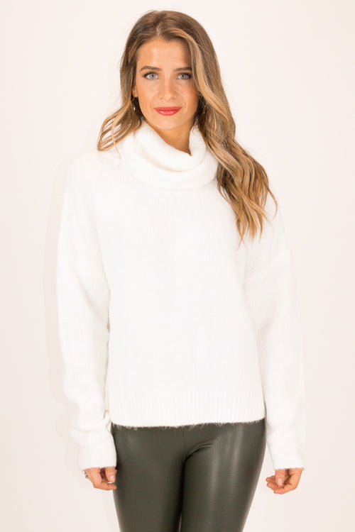 IVORY OPEN BACK SWEATER