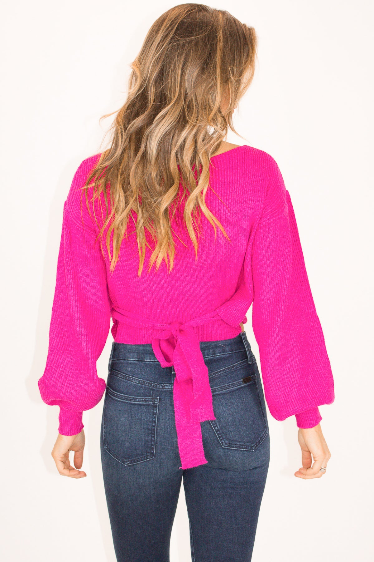 FUCHSIA WRAP SWEATER